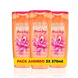 L'Oreal Paris Elvive Dream Long Champú reconstructor - pack de 3 unidades x 370 ml - total: 1110 ml